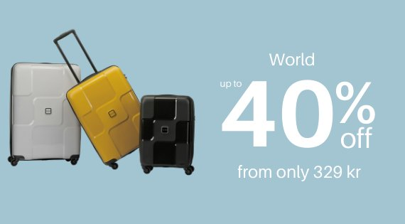 World up to 40% off