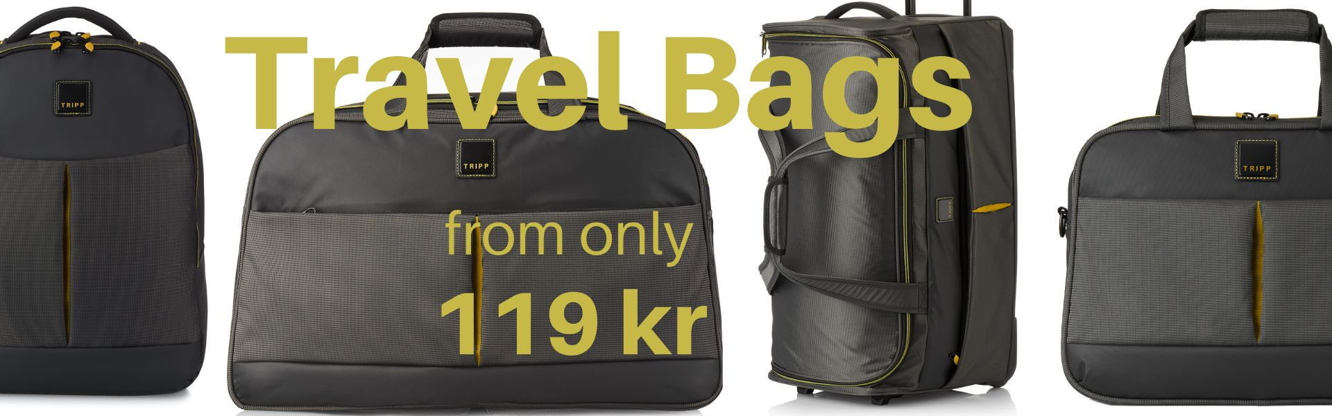 Travel bags from 119 kr