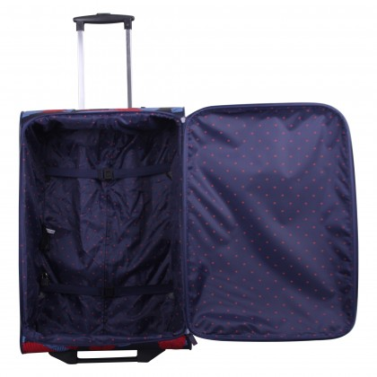 Tripp denim blue/poppy 'Leaf 'cabin 2-wheel suitcase