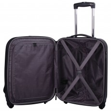 Tripp black 'Lite' 4 wheel dual access cabin suitcase