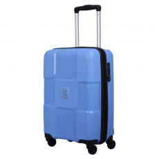 Tripp chambray 'World' 4 wheel cabin suitcase