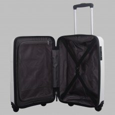 Tripp white II 'World' cabin 4-wheel suitcase