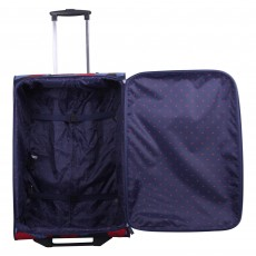 Tripp denim blue/poppy 'Leaf' Large 2-wheel suitcase
