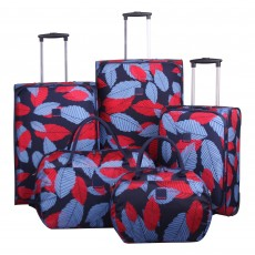 Tripp denim blue/poppy 'Leaf ' large holdall