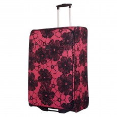 Tripp rose/navy ' Outline Pansy' 2 wheel large suitcase