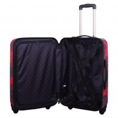 Tripp rose/navy 'Pansy Hard' 4 wheel large suitcase