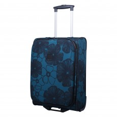 Tripp ultramarine/black 'Outline Pansy' 2W cabin case