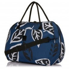 Tripp Denim/Black 'Bold Leaf' Large Holdall