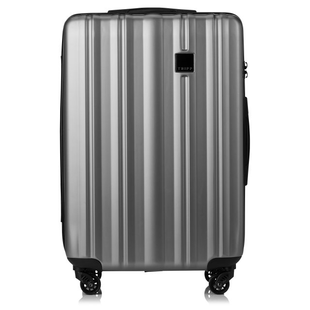 Retro Medium 4 wheel Suitcase 69cm PEWTER