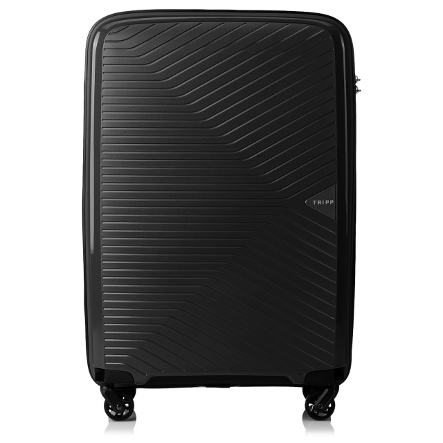 Chic Medium 4 wheel Suitcase 67cm BLACK