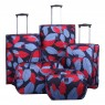 Tripp Tripp denim blue/poppy 'Leaf 'cabin 2 wheel suitcase